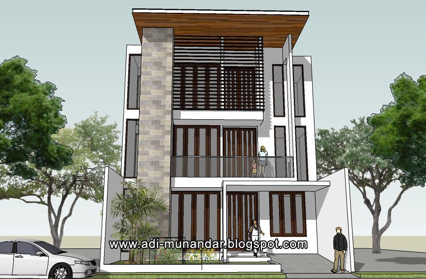 desain arsitek jakarta-rumah 3lantai mangga besar jakarta-rumah tropis moderen-lahan sempit-arsitek bali-surabaya5